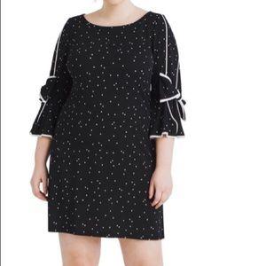 Gabby Skye Woman's plus polka dot patterned dress